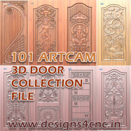 101 Door Collection design Artcam file